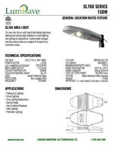 Sl760 Cutsheet Lumisave Led Technologies