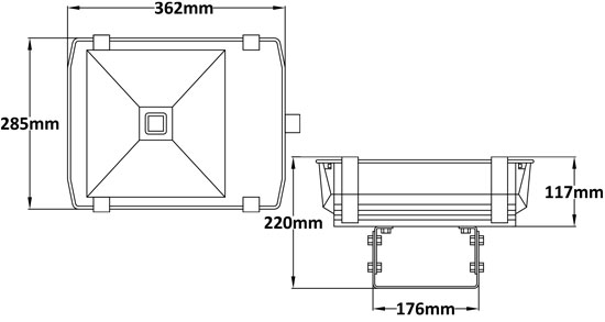 FL390 Single Chip LED Floodlight 70W - Lumisave